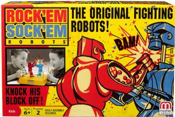 Rock 'Em Sock 'Em Robots Game  By Mattel